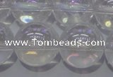 CCC404 15.5 inches 12mm round AB-color white crystal beads