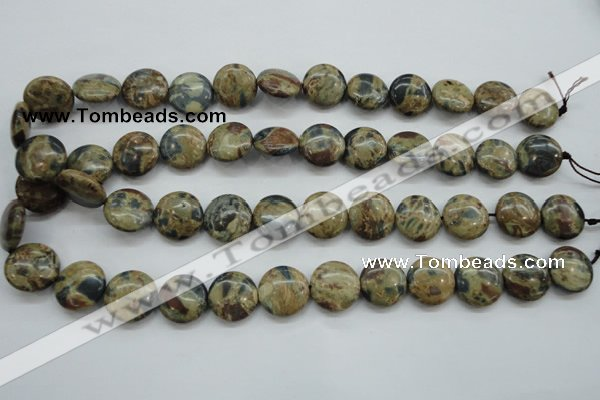 CCD03 15.5 inches 16mm flat round cordierite beads wholesale