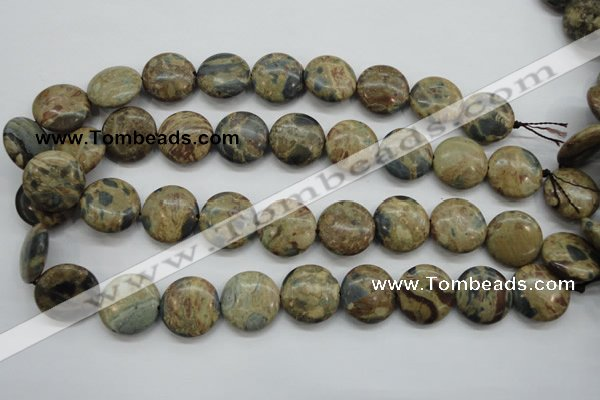 CCD04 15.5 inches 20mm flat round cordierite beads wholesale