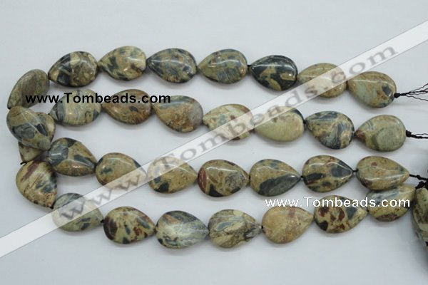 CCD08 15.5 inches 18*25mm flat teardrop cordierite beads wholesale