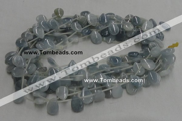 CCE07 16 inches 13*18mm flat teardrop celestite gemstone beads