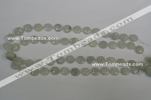 CCE11 15.5 inches 12mm flat round natural celestite gemstone beads