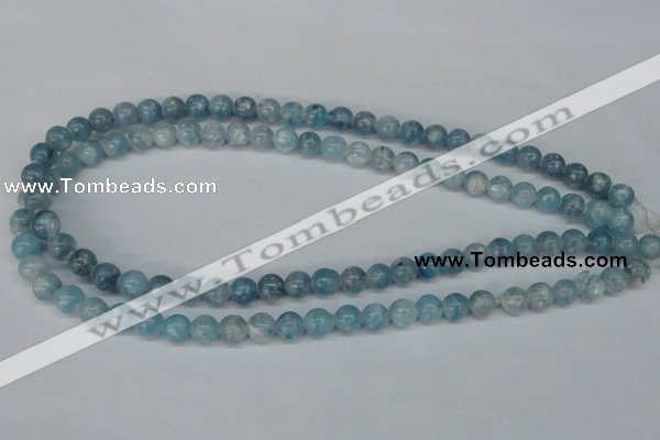 CCE51 15.5 inches 8mm round dyed natural celestite gemstone beads