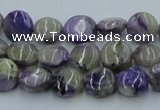CCG01 15.5 inches 10mm flat round natural charoite gemstone beads