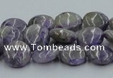 CCG02 15.5 inches 12mm flat round natural charoite gemstone beads