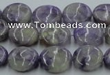 CCG03 15.5 inches 14mm flat round natural charoite gemstone beads