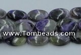 CCG04 15.5 inches 10*14mm oval natural charoite gemstone beads
