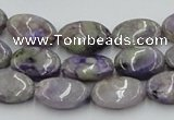 CCG05 15.5 inches 12*16mm oval natural charoite gemstone beads