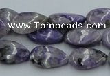 CCG07 15.5 inches 12*18mm flat teardrop natural charoite beads