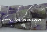 CCG08 15.5 inches 12*16mm rectangle natural charoite gemstone beads