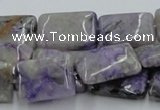 CCG09 15.5 inches 15*20mm rectangle natural charoite gemstone beads