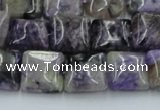 CCG10 15.5 inches 14*14mm square natural charoite gemstone beads