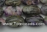 CCG103 15.5 inches 13*18mm oval charoite gemstone beads