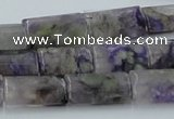 CCG11 15.5 inches 12*20mm rectangle natural charoite gemstone beads