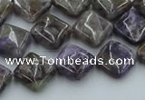 CCG12 15.5 inches 12*12mm diamond natural charoite gemstone beads