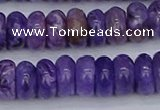 CCG122 15.5 inches 5*9mm rondelle charoite gemstone beads