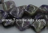 CCG14 15.5 inches 14*14mm diamond natural charoite gemstone beads