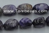 CCG15 15.5 inches 12*15mm nugget natural charoite gemstone beads