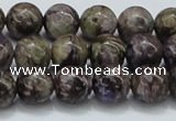 CCG22 15.5 inches 12mm round natural charoite gemstone beads
