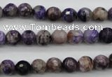 CCG52 15.5 inches 8mm faceted round natural charoite beads