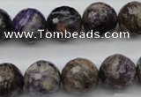 CCG55 15.5 inches 14mm faceted round natural charoite beads