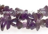 CCH12 35 inches purple amethyst chips gemstone beads wholesale