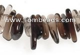 CCH15 16 inches smoky quartz chips gemstone beads wholesale