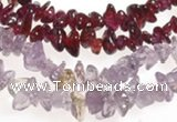 CCH19 34 inches garnet chips & amethyst chips beads wholesale