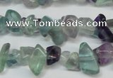 CCH216 34 inches 5*8mm fluorite chips gemstone beads wholesale