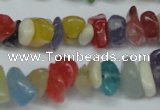 CCH236 34 inches 5*8mm mixed candy jade chips beads wholesale