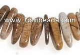 CCH26 16 inches picture jasper chips gemstone beads wholesale