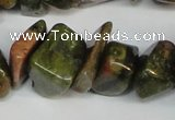 CCH296 34 inches 8*12mm unakite chips gemstone beads wholesale