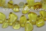 CCH313 15.5 inches 10*15mm synthetic citrine chips beads wholesale