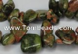 CCH323 15.5 inches 10*15mm unakite chips gemstone beads wholesale