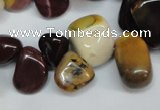 CCH326 15.5 inches 10*15mm mookaite chips gemstone beads wholesale