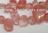 CCH334 15.5 inches 10*15mm cherry quartz chips beads wholesale