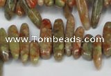 CCH342 15.5 inches 5*20mm New unakite chips gemstone beads wholesale