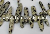 CCH344 15.5 inches 5*20mm dalmatian jasper chips beads wholesale