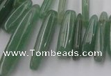 CCH405 15.5 inches 6*22mm - 7*35mm green aventurine chips beads