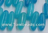 CCH500 15.5 inches 6*18mm - 8*25mm dyed white jade chips beads