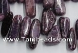 CCH502 15.5 inches 6*15mm - 8*28mm kunzite chips beads