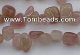 CCH621 15.5 inches 6*8mm - 10*14mm strawberry quartz chips beads