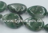 CCJ07 15.5 inches 18*25mm flat teardrop natural African jade beads