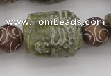 CCJ237 15.5 inches 22*28mm carved buddha China jade beads