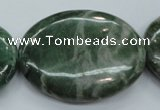 CCJ25 15.5 inches 30*40mm oval natural African jade beads wholesale