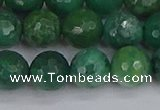 CCJ413 15.5 inches 10mm faceted round west African jade beads