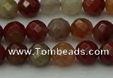 CCJ461 15.5 inches 6mm faceted round colorful jasper beads
