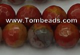 CCJ465 15.5 inches 14mm faceted round colorful jasper beads