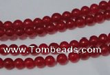 CCN05 15.5 inches 4mm round candy jade beads wholesale