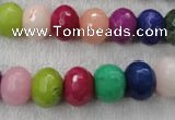 CCN1011 15.5 inches 8*12mm faceted rondelle multi colored candy jade beads